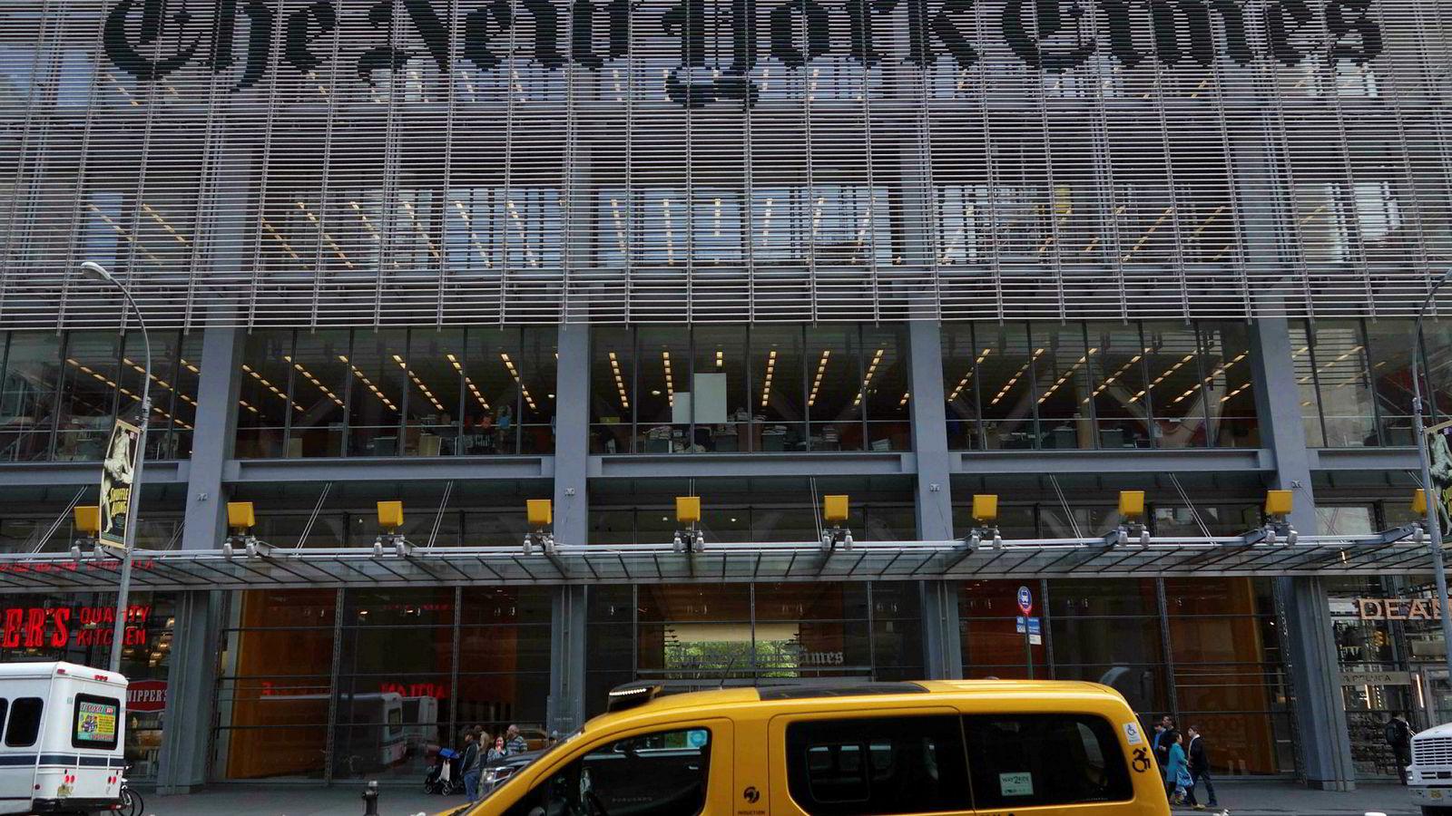 The New York Times topper president Donald Trumps oversikt over «fake news».