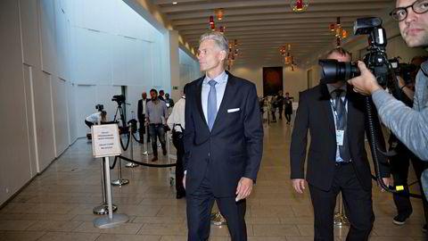 Norske Thomas Borgen var toppsjef i Danske Bank fra 2013 til han måtte trekke seg på grunn av hvitvaskingssaken i 2018. Her fra en pressekonferanse i København i fjor høst.
