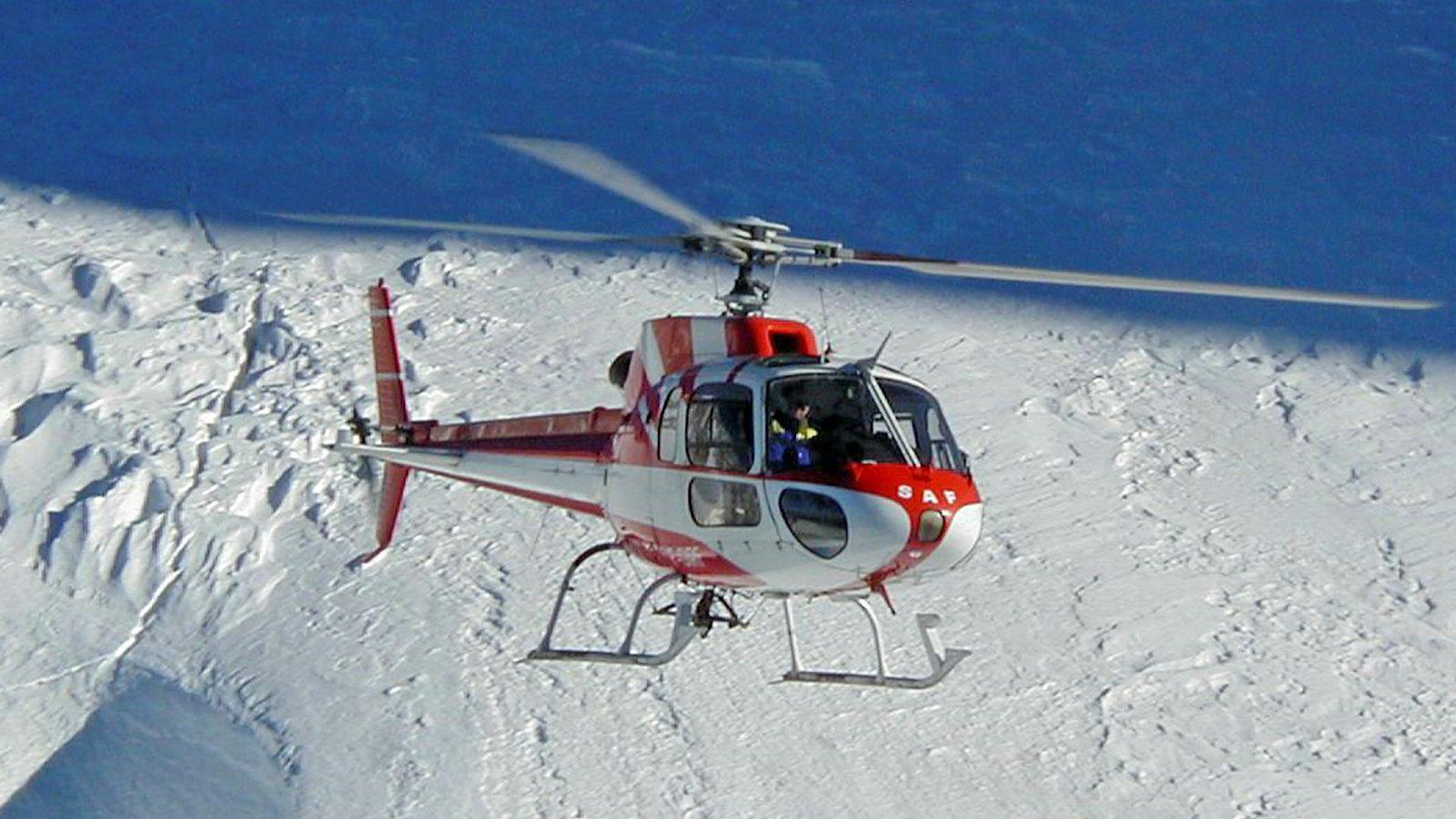 Arkivfoto: Et Airbus AS350-helikopter
