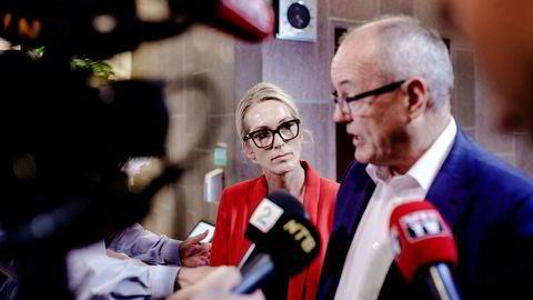 Innovasjon Norge-styreleder Gunnar Bovim ble fredag orientert om ansettelsessaken i selskapet. Her med administrerende direktør Anita Krohn Traaseth. Foto: Nicklas Knudsen