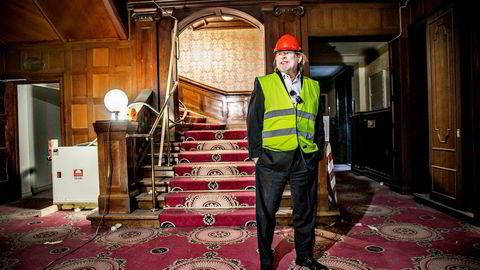 Odd Reitan restaurerer ærverdige Britannia Hotell i Trondheim. En gammel drøm er i ferd med å gå i oppfyllelse. Foto: Øyvind Nordahl Næss