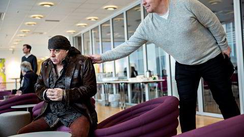 I januar 2015 var stemningen god mellom Lilyhammer-stjerne Steven van Zandt og Rubicon-sjef Pål Kruke Kristiansen. Siden har Kristiansens selskap gått med underskudd. Foto: Aleksander Nordahl