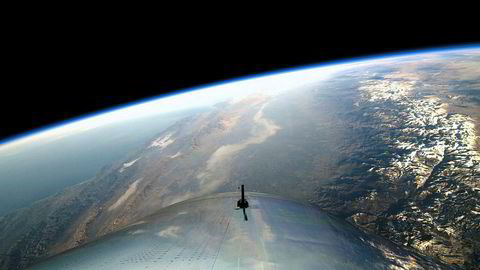 Denne utsikten vil noen få, veldig rike turister kunne nyte i løpet av 2019. Virgin Galactic er ett av selskapene som tror romturisme vil starte neste år.