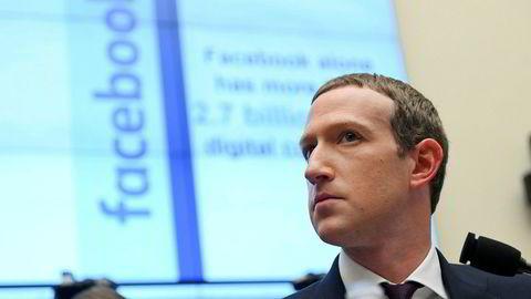 Mark Zuckerberg, toppsjef i Facebook.