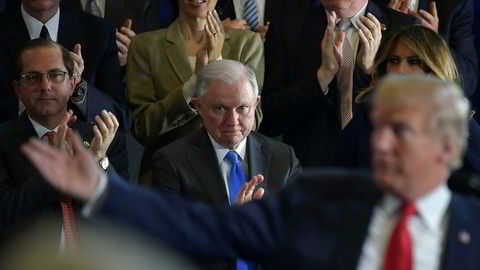 Justisminister Jeff Sessions synes å ha fått nok av alle ydmykelsene fra sjefen, president Donald Trump.