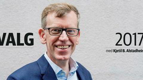 Kjetil B. Alstadheim dekker Stortingsvalget 2017 direkte. Foto: Dagens Næringsliv