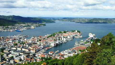 Kontorledigheten i Bergen synker.