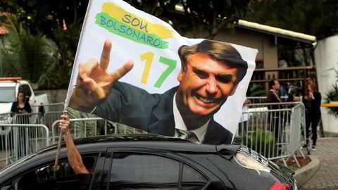 Jair Bolsonaro vant presidentvalget i Brasil.