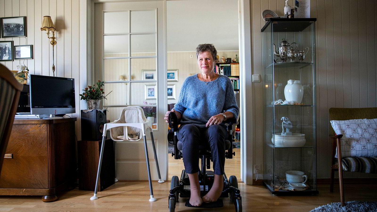 – Uforståelig, sier CP-rammede og uføretrygdede Wenche Svendsen (58) fra Dammen om regjeringens pensjonsforslag.