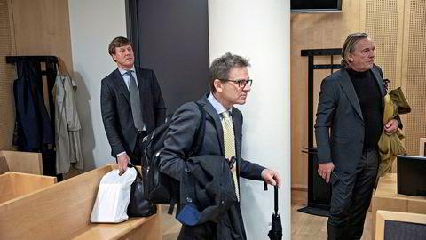 Trond Kostveit (fra venstre) har saksøkt Knut Søvold og Gerhard Ludvigsen for brudd på en angivelig avtale de tre hadde om eierskap av en lukrativ oljelisens i Kongo.