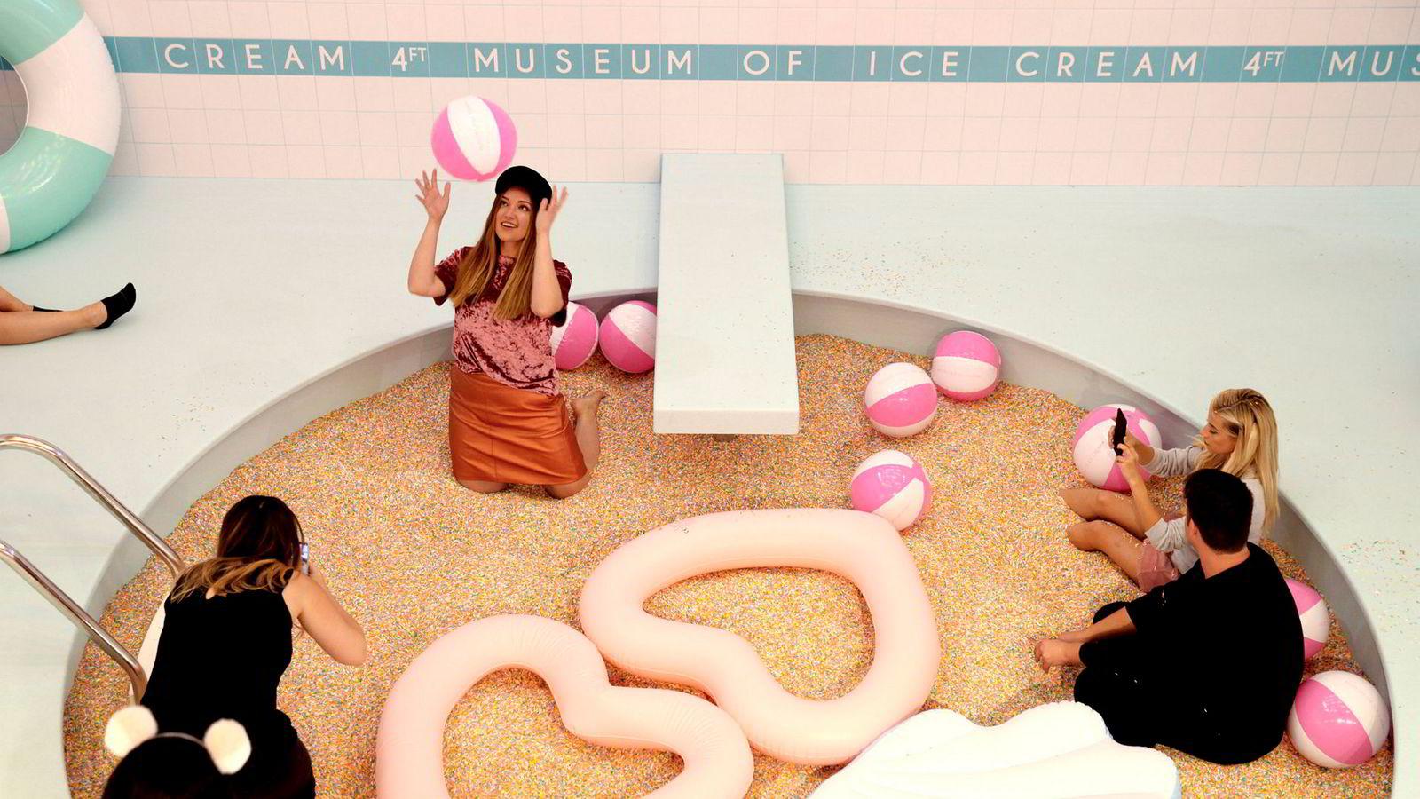 Museum of Ice Cream, hevder selv at det ikke er et museum, ei heller en butikk. Det er et slags opplevelsessenter, tilpasset sosiale medier. Og forresten selger de iskrem.