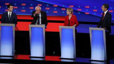 Friske diskusjoner i den andre runden av demokratenes tv-debatter tirsdag kveld.
