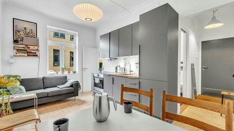 Denne leiligheten på 22 kvadratmeter på Grünerløkka i Oslo gikk for godt over snittprisen.