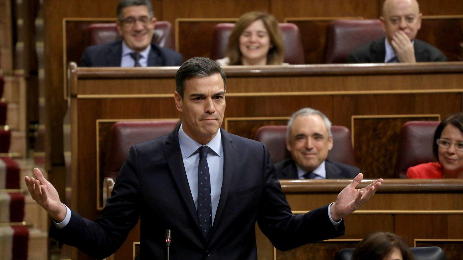 Spanias statsminister Pedro Sanchez mener Gibraltar tilhører Spania.