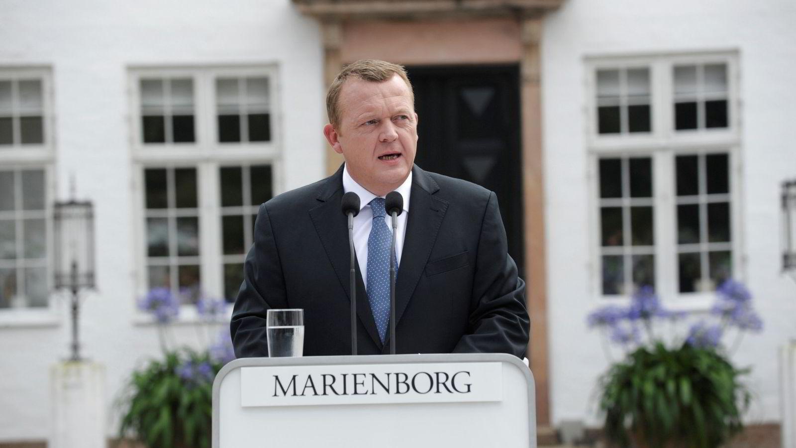 Danmarks statsminister Lars Løkke Rasmussen. Foto: Keld Navntoft /