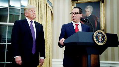 Finansminister Steven Mnuchin er Donald Trumps viktigste forhandler i handelssamtalene med Kina.