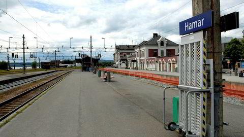 Her fra Hamar stasjon på Dovrebanen.