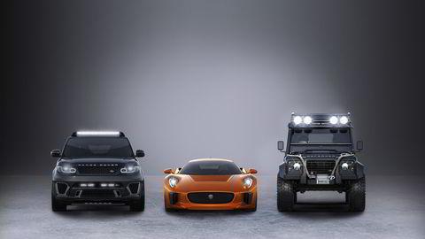 """Disse tre bilene blir å se i den kommende James Bond-filmen """"Spectre""""."""