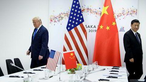 USAs president Donald Trump varslet torsdag kveld økte tollsatser mot Kina.