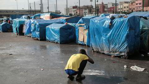 En migrantleir i Casablanca i Marokko, der migrasjonspakten ble vedtatt på et møte tidligere i desember.