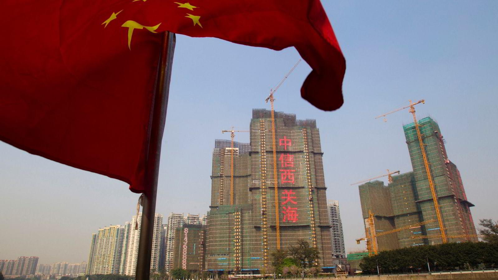 KINA: Bygninger anlegg Kina Skyskrapere i Guangzhou.