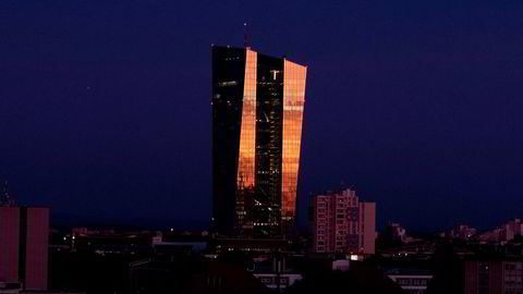 Den europeiske sentralbankens hovedkvarter i Frankfurt.