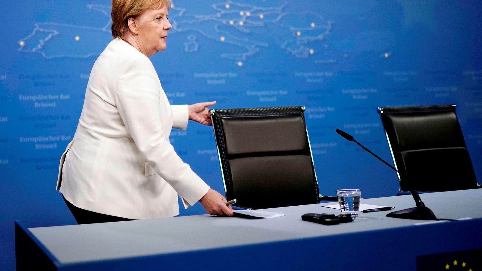 EU-toppene får ikke sjefkabalen til å gå opp. Men Tysklands Angela Merkel har sagt hva hun ønsker.