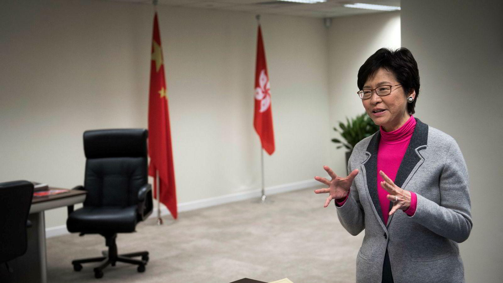 Hongkong-leder Carrie Lam.