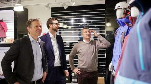 Partner Erik Nelson (i midten) i FSN Capital har ledet oppkjøpet av Active Brands der Dag Teigland (til venstre) er styreleder og Espen Krogstad konsernsjef.