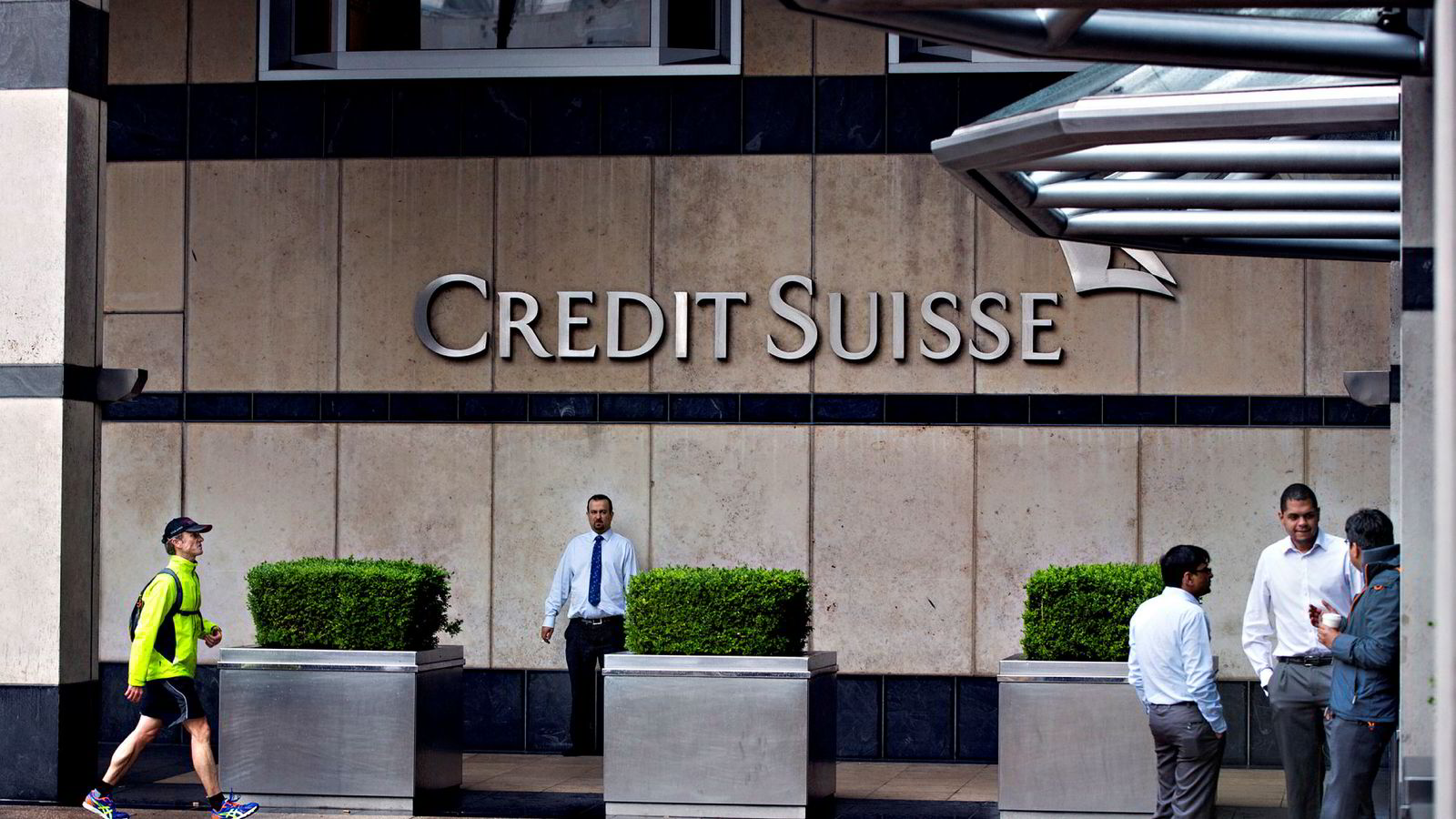 Credit Suisses lokaler i Canary Wharf, London.
