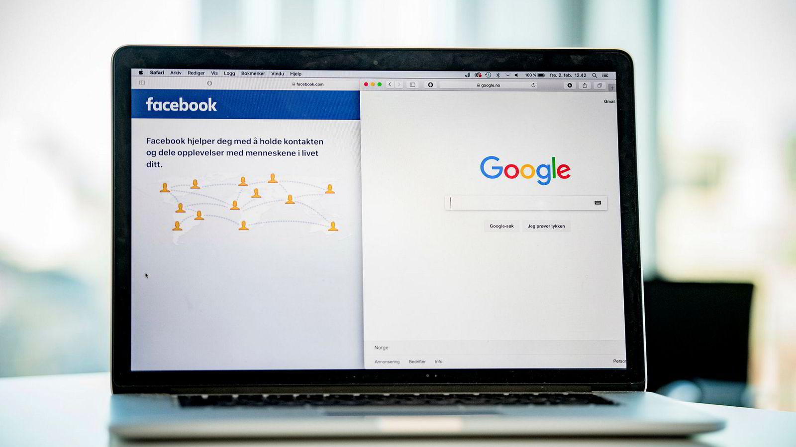 I Norge vet vi at mens avishusene har tapt 2,7 milliarder kroner i annonseinntekter siden 2012, omsatte Google og Facebook sannsynligvis for over fire milliarder kroner til sammen i det norske markedet i 2017, skriver innleggsforfatteren.