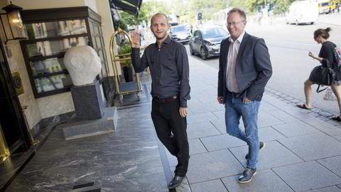 Administrerende direktør Robin Reed og en av hovedgründerne Frode Fagerli i det børsnoterte spillselskapet Gaming Innovation Group. Foto: ØYVIND ELVSBORG