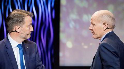 Finansdirektør Jørgen Rostrup (t.v.) mener oppkjøpet av DNA ikke er et fiendtlig oppkjøp.