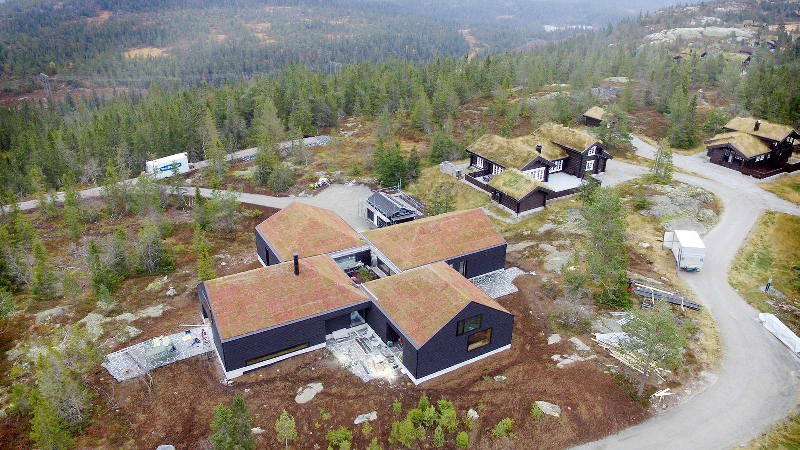 Kraftinvestor Einar Aas' bygget hytten i Nissedal i Telemark i 2016.