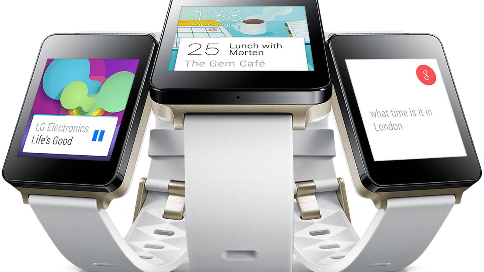 Smartklokken LG G Watch er den første som lanseres med operativsystemet Android Wear.