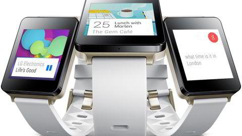 Smartklokken LG G Watch er den første som lanseres med operativsystemet Android Wear. Foto: LG Electronics