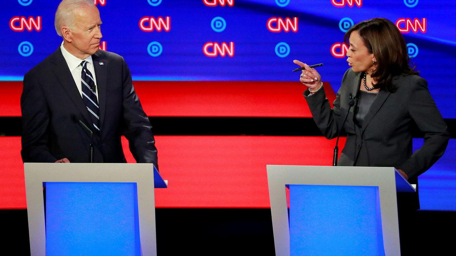 Tidligere visepresident Joe Biden og senator Kamala Harris dominerte onsdagens tv-debatt.
