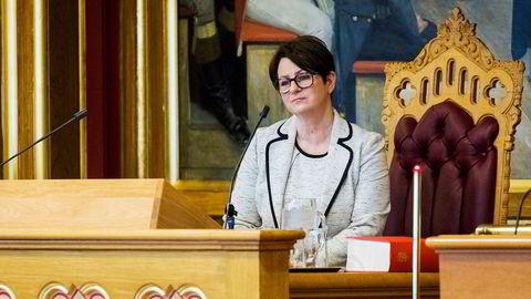 Stortingspresident Tone Wilhelmsen Trøen.