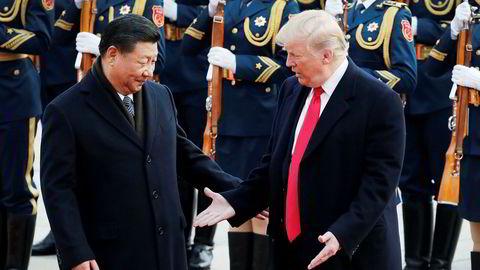 Tonen har eskalert mellom USA og Kina, her ved presidentene Xi Jinping og Donald Trump.