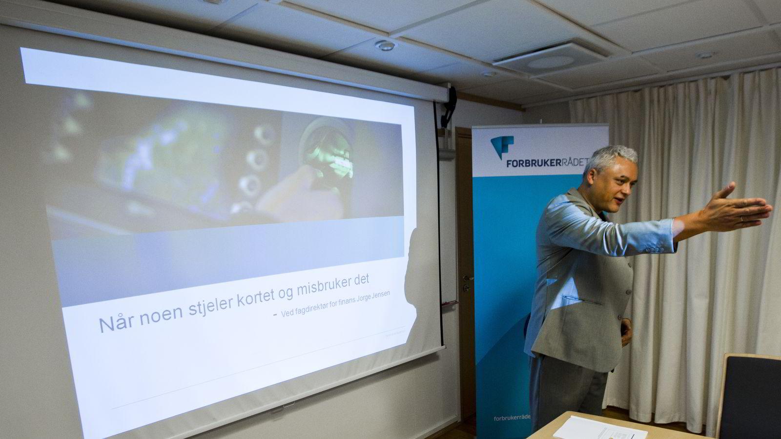 Fagdirektør for finans Jorge Jensen i Forbrukerrådet. Foto: Vegard Grøtt /