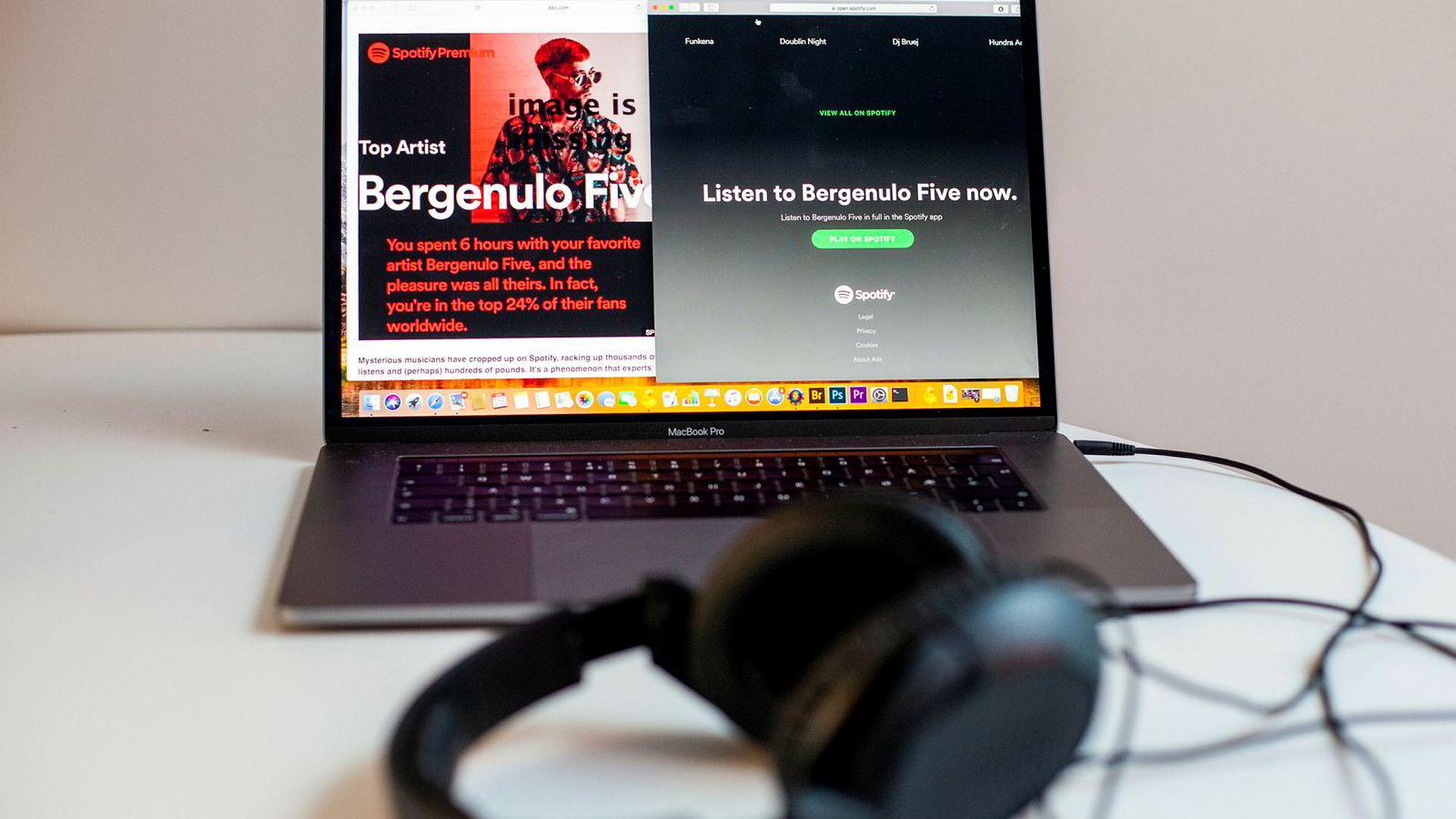 Bergenulo Five er en av flere mystiske artister som har dukket opp i avspillingsloggene til Spotify-brukere.
