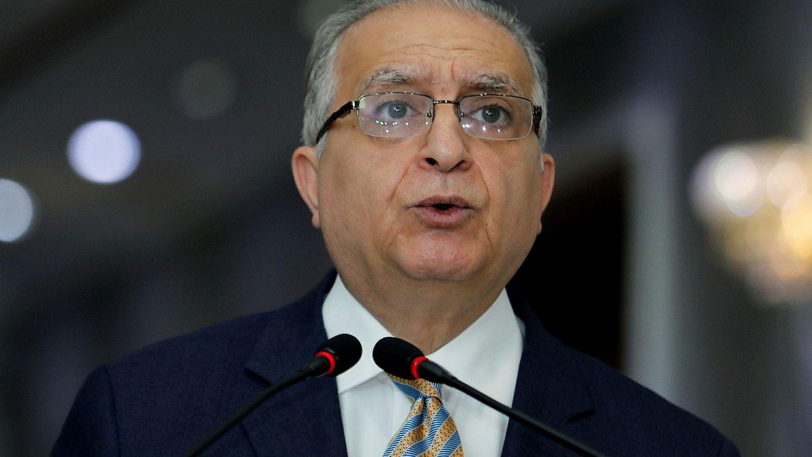 Iraks utenriksminister, Mohamed Ali Alhakim, ber utlendinger holde seg unna Persiabukten.