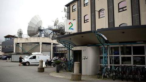 TV 2s hovedkontor på Nøstet i Bergen. En tidligere ansatt er dømt til tre års fengsel for grovt bedrageri.