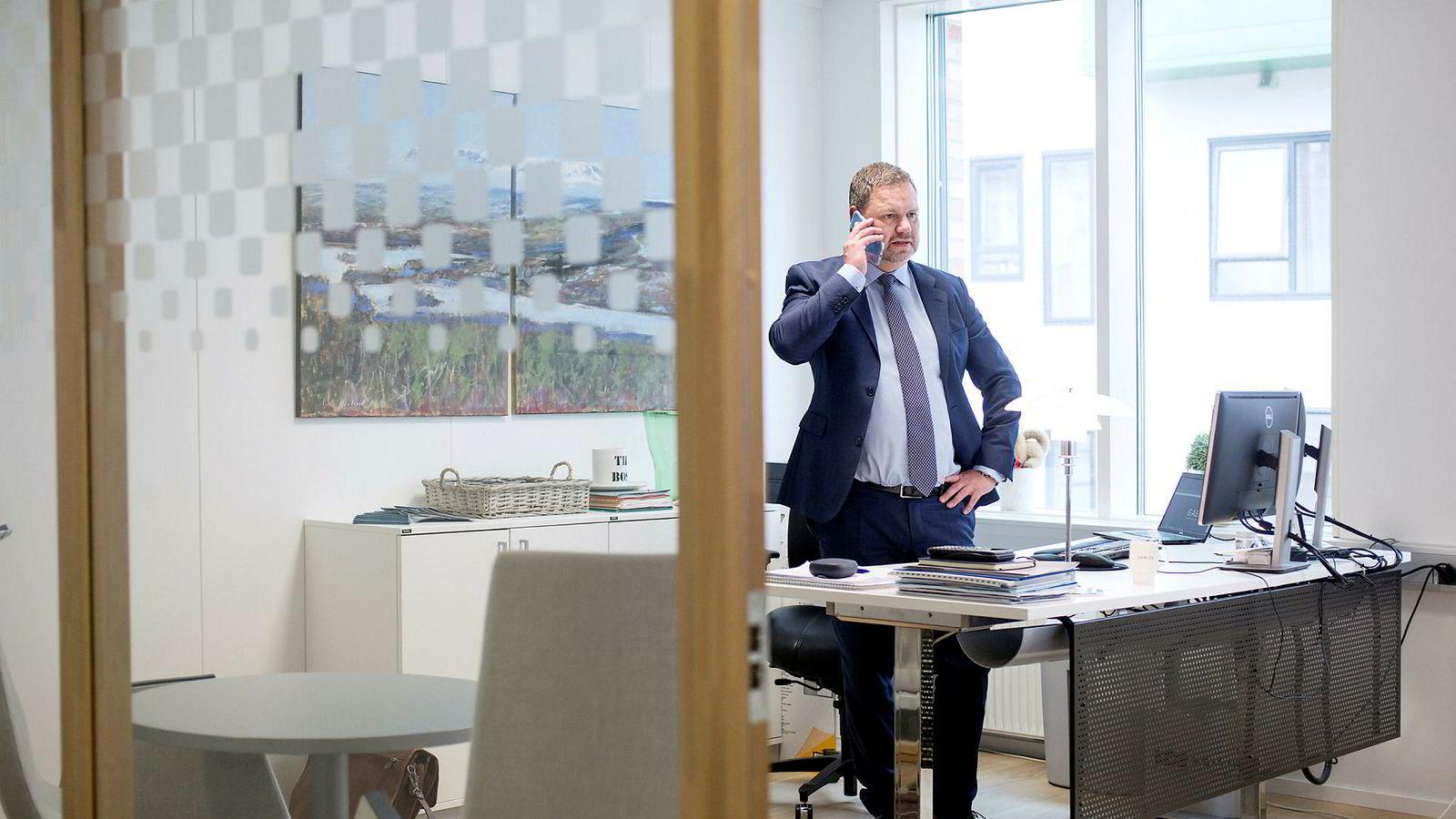 – Bank og forsikring skiller lag. Det skaper rom for en aktør som oss og er noe vi ønsker å dra nytte av, sier konsernsjef Aksel Bjerkvik i finanshuset Gabler.