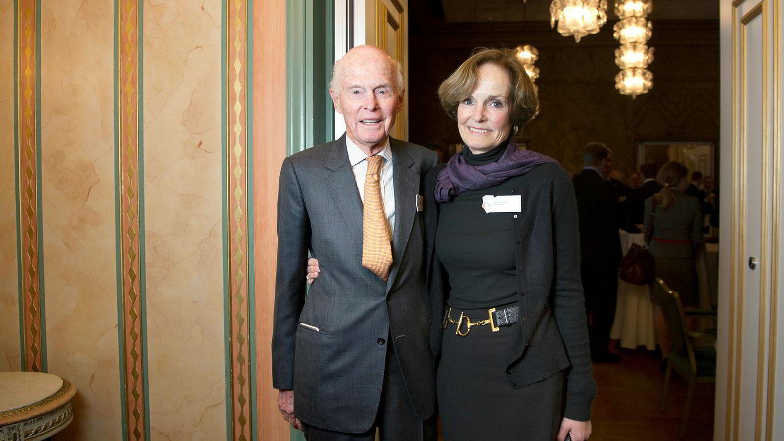 Et brutalt fall for Fred. Olsen Energy hvor aksjonærene har tapt milliarder av kroner. Her Fred Olsen og Anette Olsen.