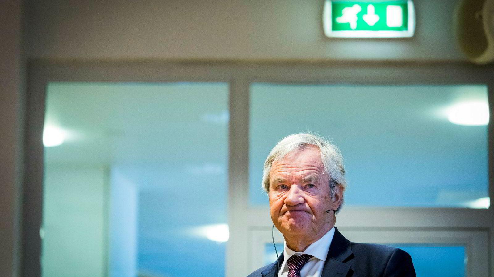Norwegian har gått på store urealiserte tap på drivstoffkontrakter etter at oljeprisen har falt kraftig. Avbildet er konsernsjef Bjørn Kjos.