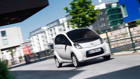 Striden sto om en elbil av typen Citroën C-Zero tilsvarende bilen på bildet. Foto: Citroën