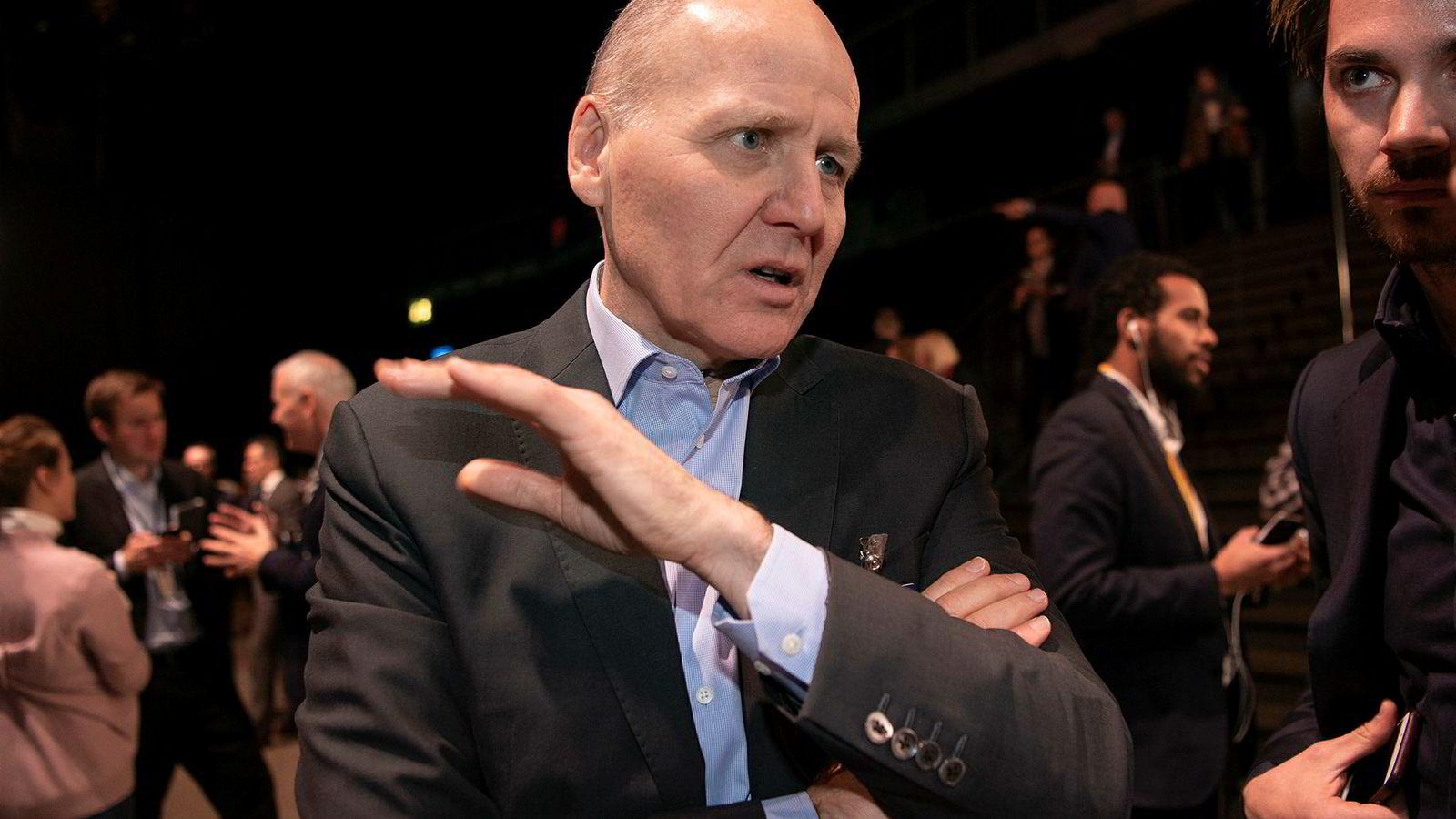 Toppsjef i Telenor, Sigve Brekke.