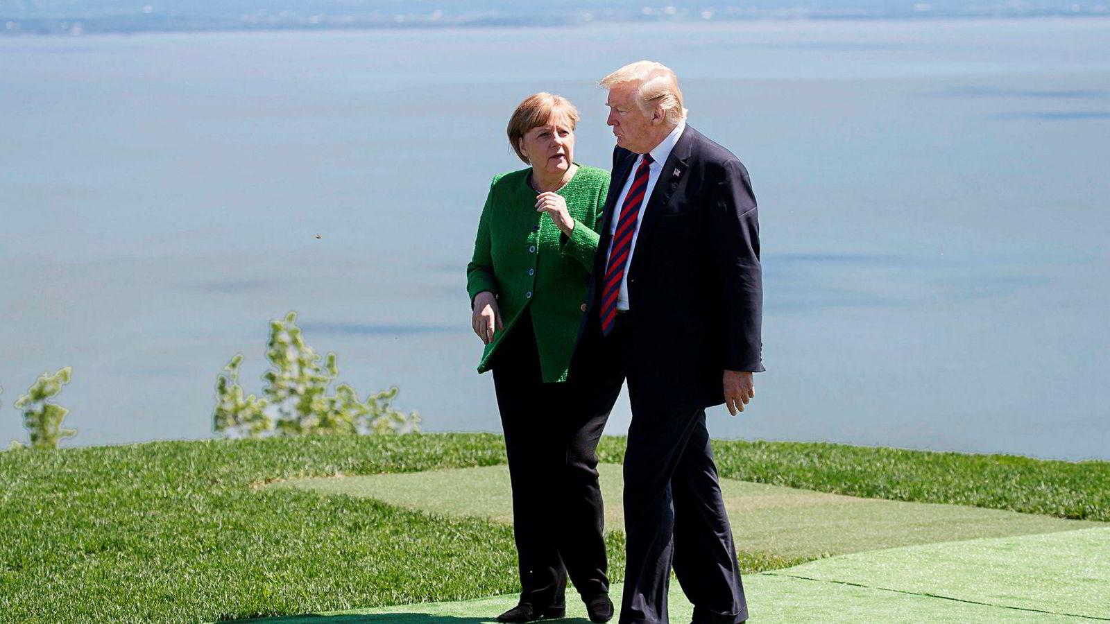USAs forbundskansler Angela Merkel er bekymret for hva USA og president Donald Trump finner på i den pågående handelskrigen.