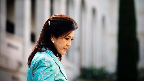 På torsdag ble det tatt ut tiltale mot Thailands første kvinnelige statsminister Yingluck Shinawatra for uaktsomhet i det kontroversielle rissubsidieprogrammet. Foto: REUTERS/NTB Scanpix